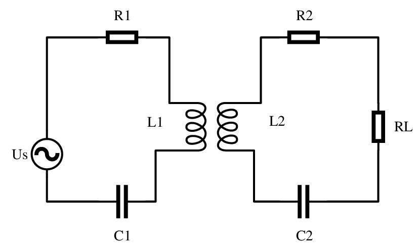 Equivalent circuit of wireless power transmission system