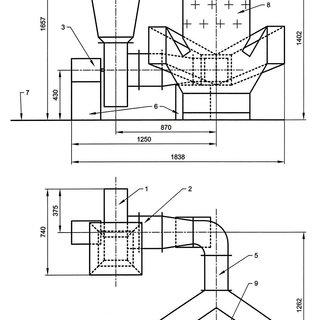 Burners and nozzles arrangement by furnace height for TPP