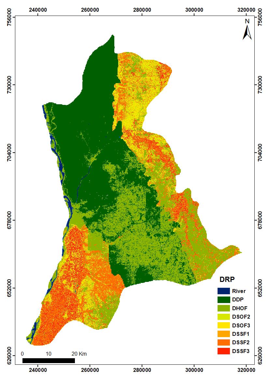medium resolution of dominant runoff process map of the study area