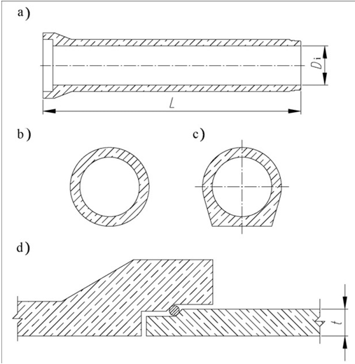 Design of non-pressure reinforced pipes: а-longitudinal