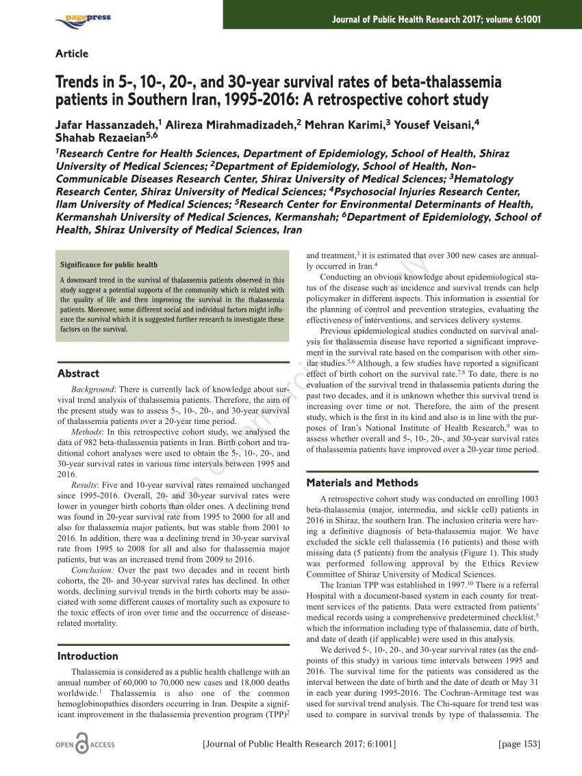 PDF Delay In Diagnosis Of Hemoglobulinopathies Thalassemia Sickle