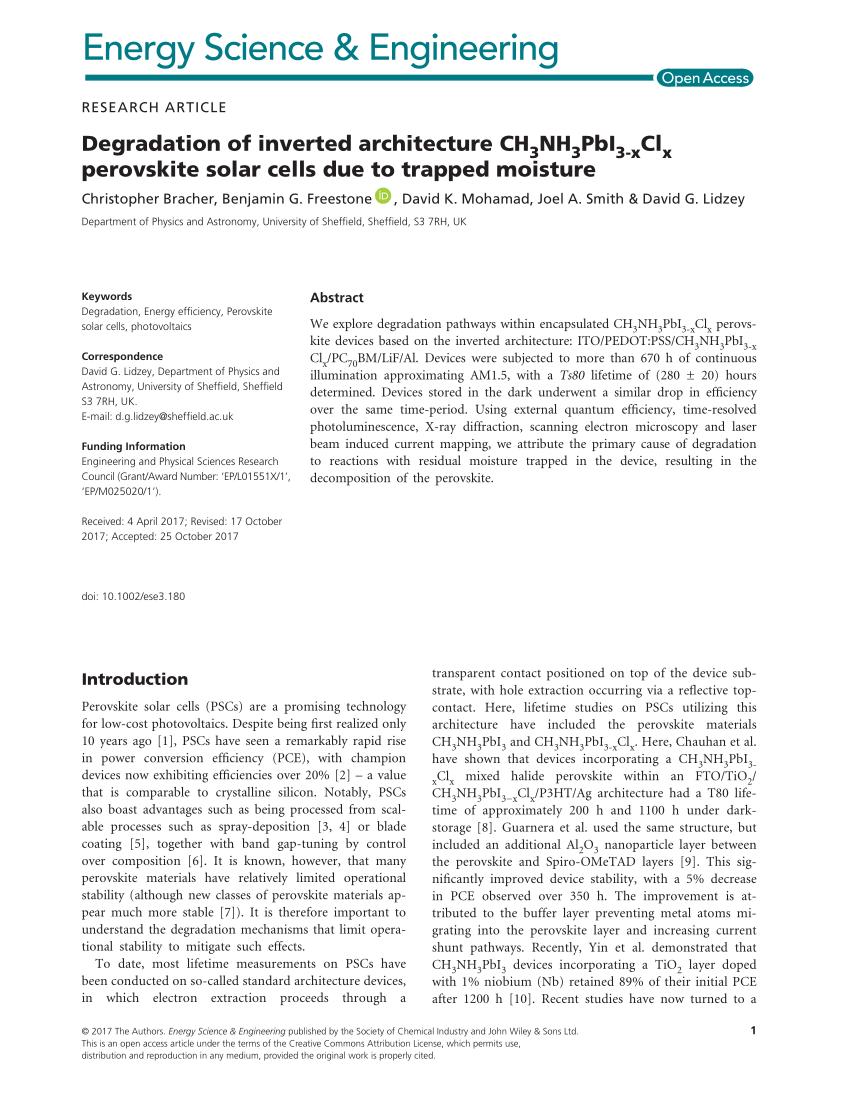 PDF Electro Optics Of Perovskite Solar Cells