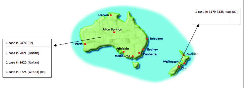 Distribution of cystic fibrosis patients in Australia and ...
