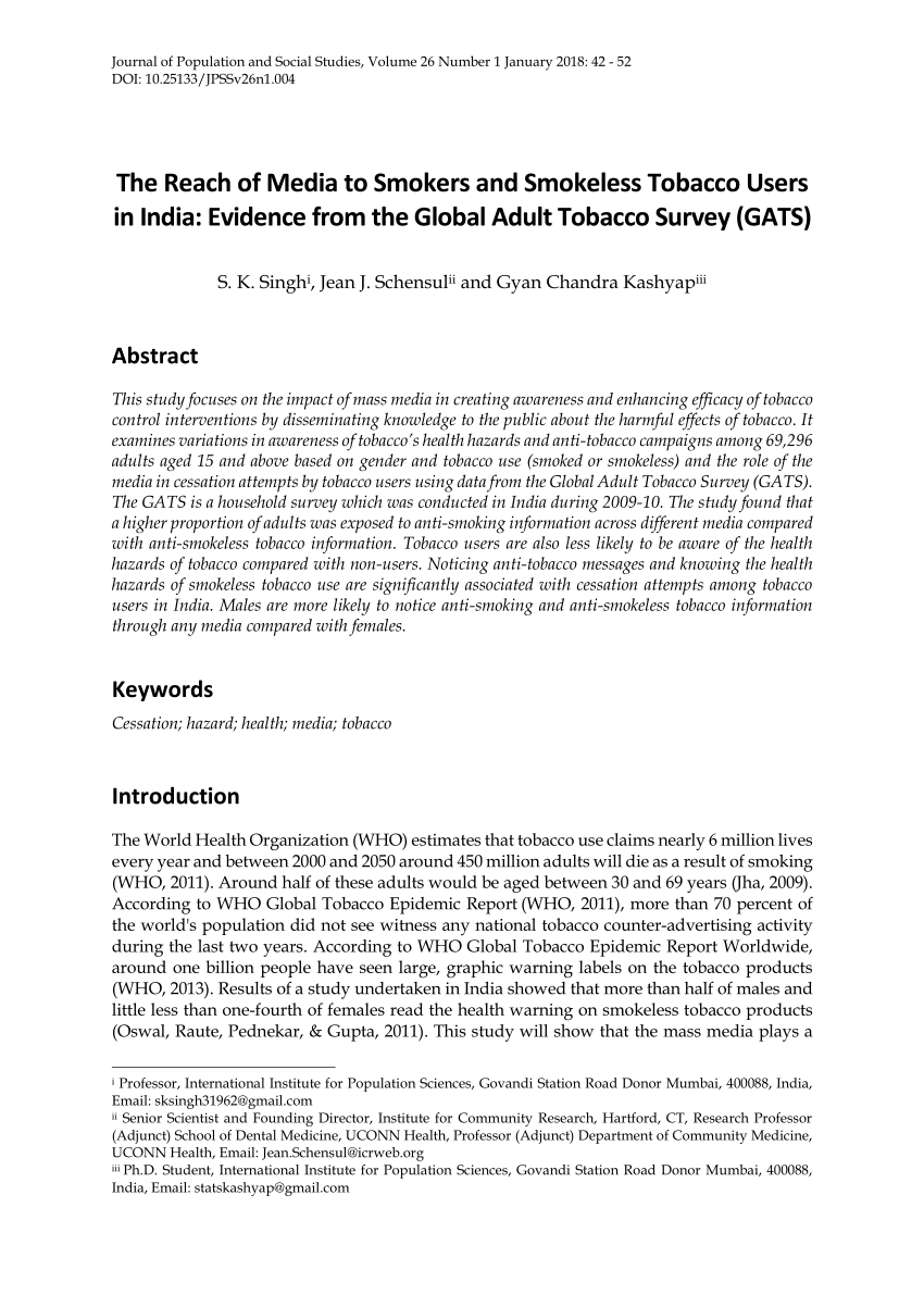 PDF Tobacco Control Policies In India Implementation And Challenges