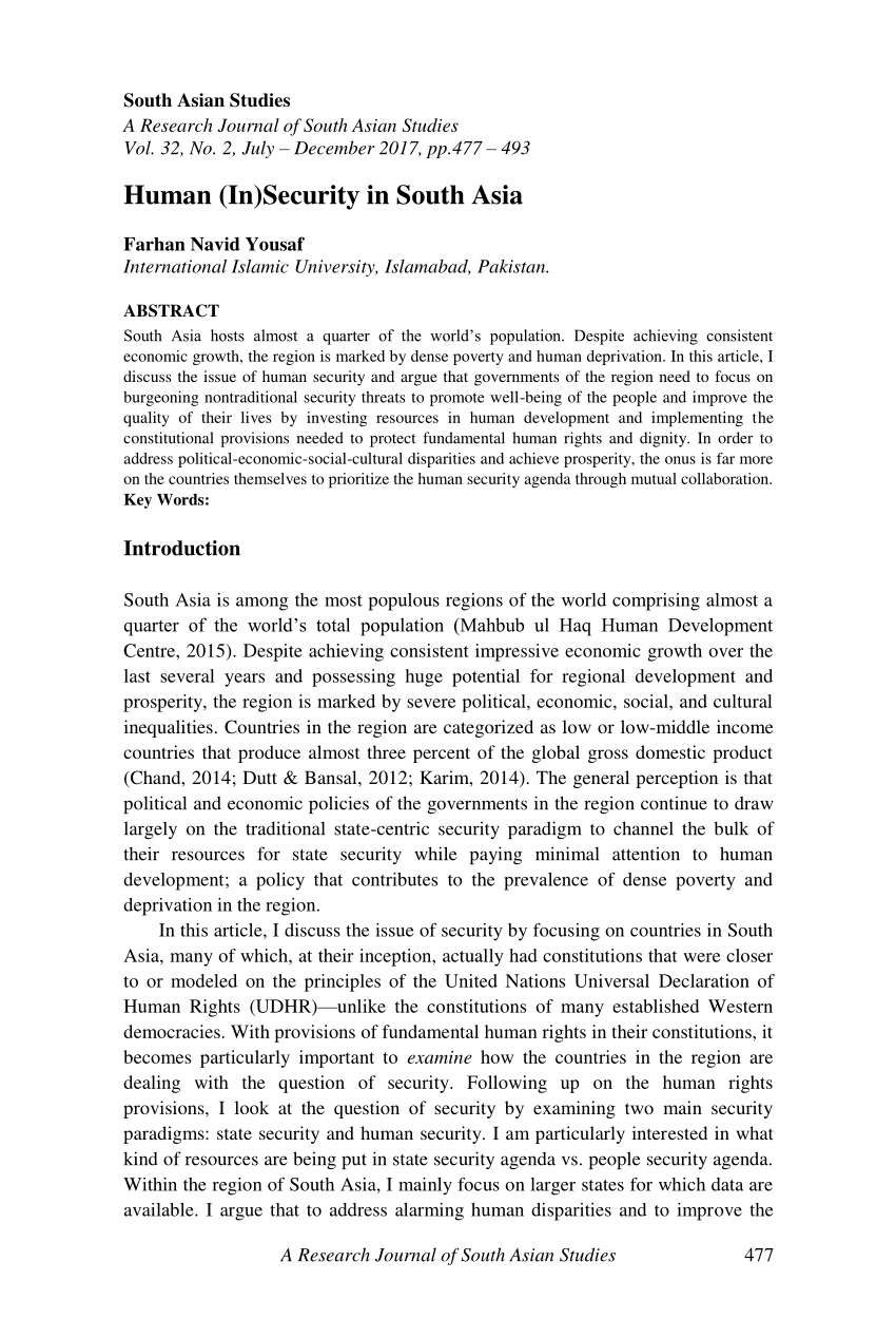 PDF South Asian Regional Integration – Challenges And Prospects