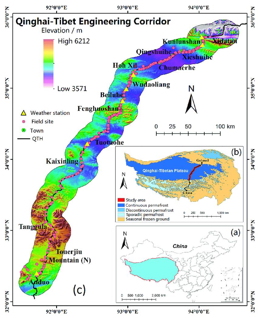 medium resolution of  a the qinghai tibetan plateau location in china
