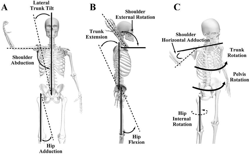 Definition of kinematics: (A) Lateral trunk tilt shoulder ...