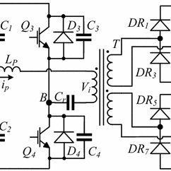 AC/DC four-stage, cascaded diode-capacitor AC to DC high