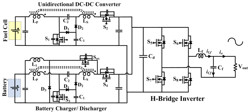 Proposed circuit diagram of line-interactive