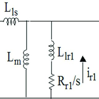The equivalent circuit of a three-phase induction motor