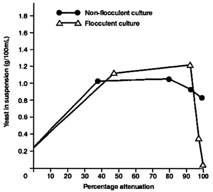 Static fermentation flocculation characteristics [1