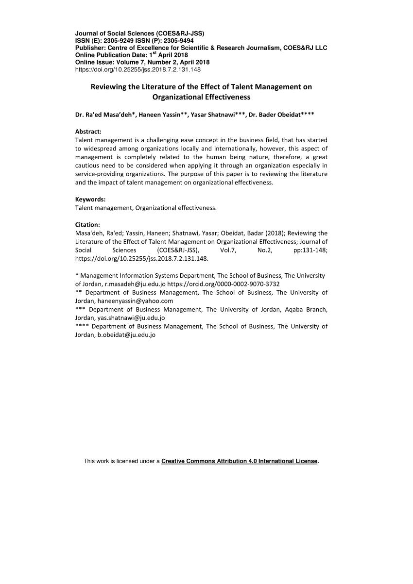 The Ethics Of Talent Management Request PDF