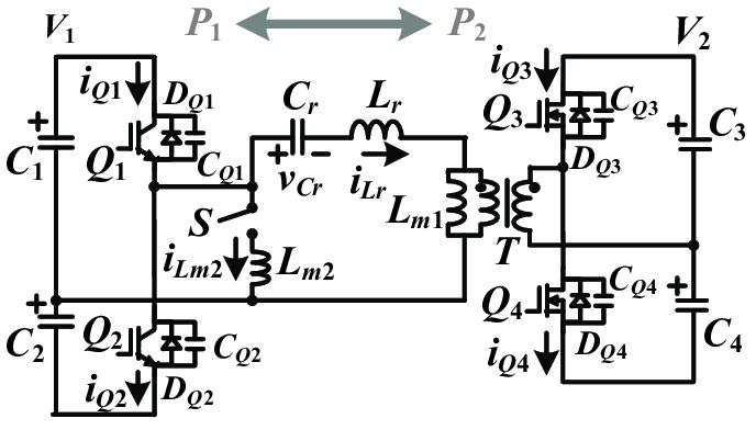 Circuit schematic of the proposed dual half-bridge
