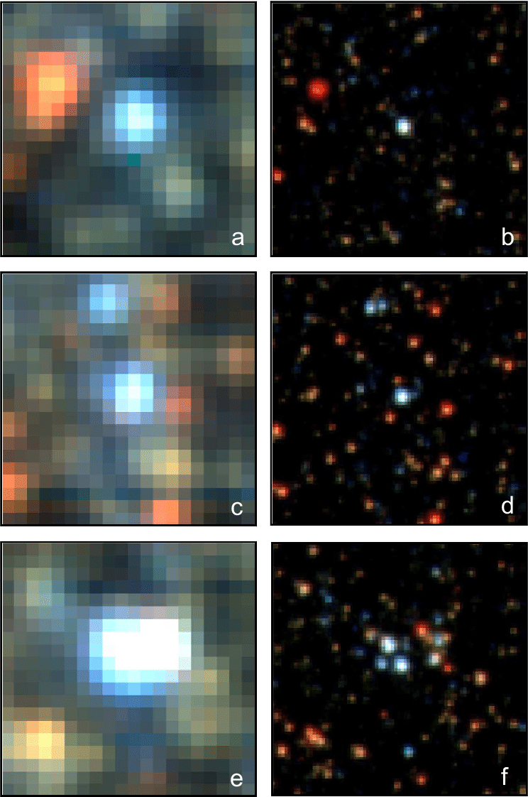 medium resolution of hst images of 4 4 arcsec 2 size from field i