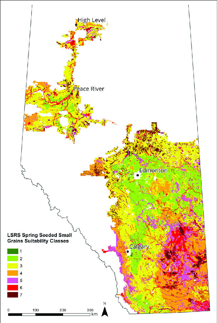 medium resolution of lsrs class ratings for spring seeded small grains based on the 1981 2010