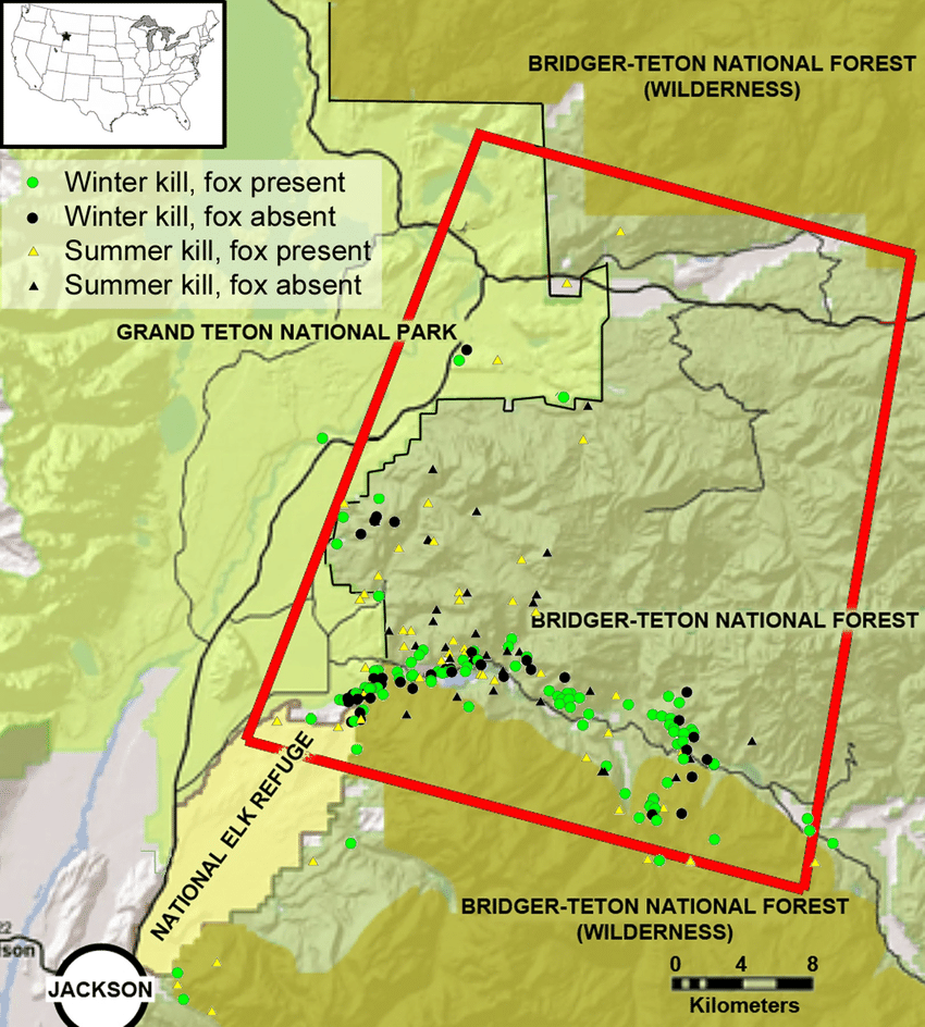 medium resolution of the study area in the southern greater yellowstone ecosystem teton county wyoming the