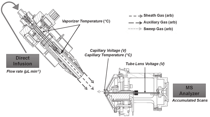 Scheme of the APPI FT-ICR MS system with the nine