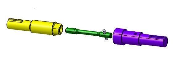 eps sub assembly input shaft output