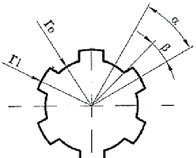 Geometry of gear-like element with straight parallel flank