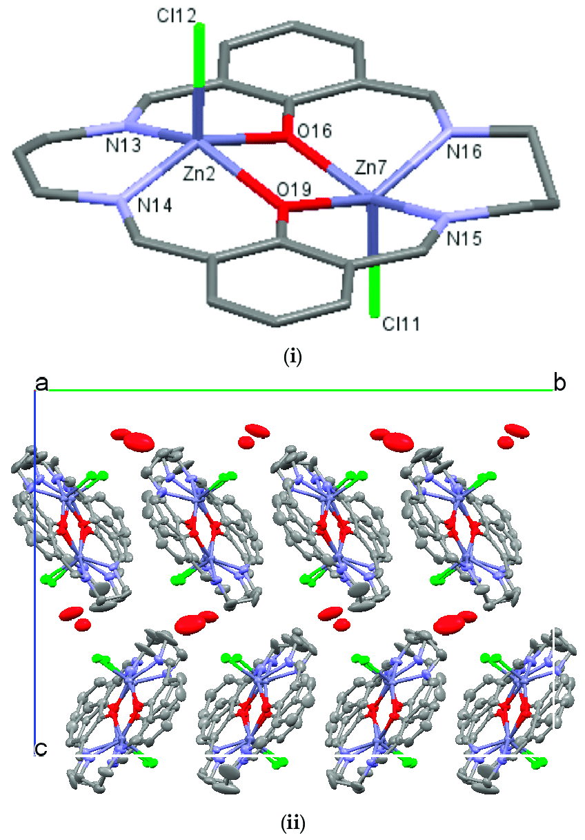 medium resolution of  i crystal structures of nzn 2 l showing the atom labeling schemes hydrogen