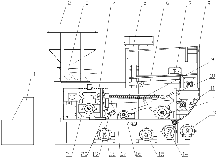 Schematic diagram of the multi-duct cleaning device. 1