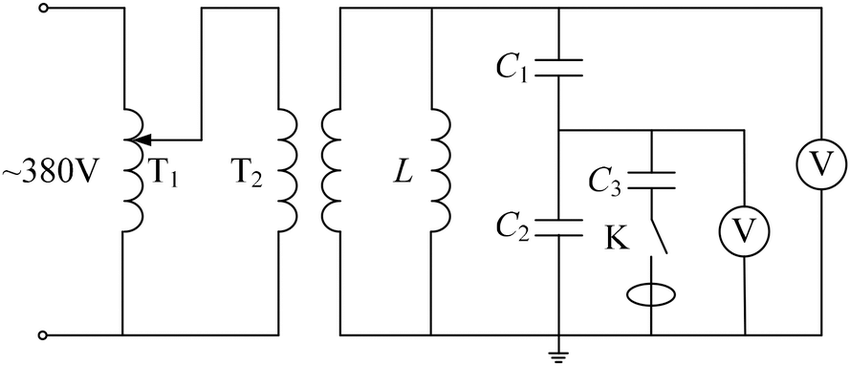 Simulation test circuit for capacitor element self-healing