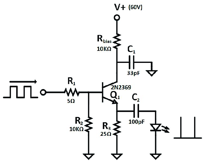 Simplified schematic of avalanche pulse generator