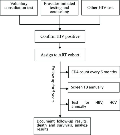 small resolution of study profile diagram this diagram shows the flow of hiv aids being assigned to