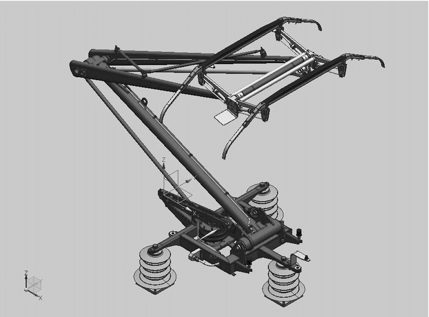 CAD model of the high-speed railway CX pantograph