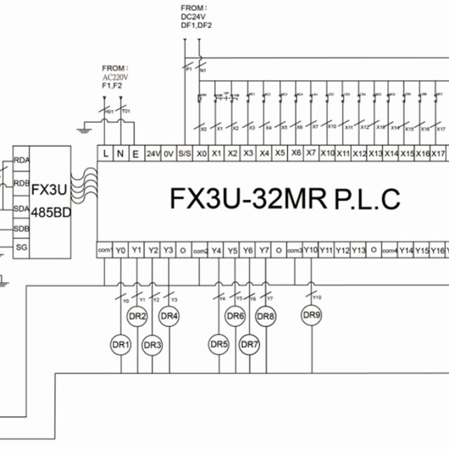 Experimental circuit wiring diagram for programmable logic