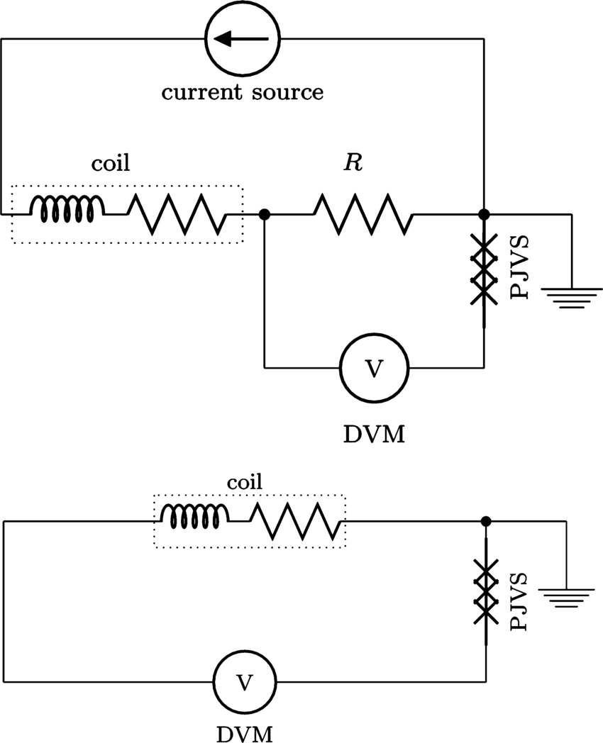 The circuit diagram of the Kibble balance in force mode