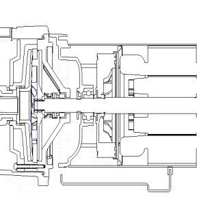 Diagrammatic drawing of jet self-priming pump structure