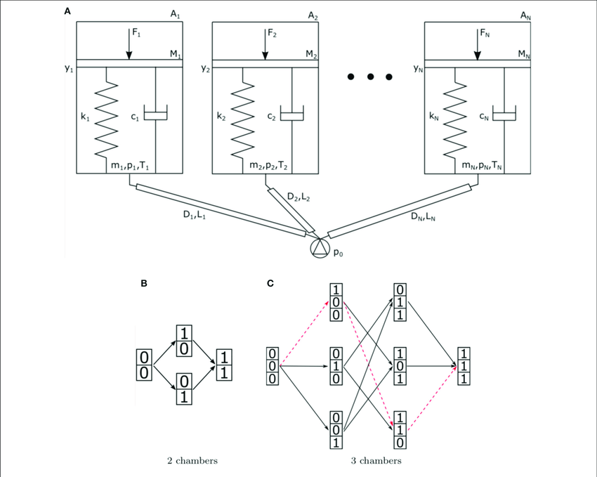 | (A) Schematic representation of a fluidic network with