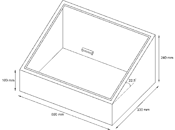 Schematic diagram of solar still with dimensions