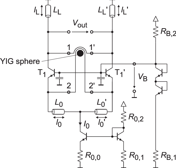 Schematic of the fully differential oscillator core with