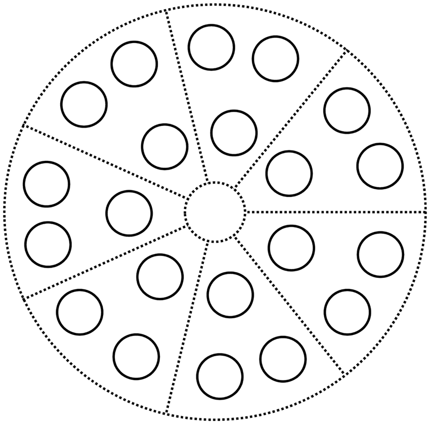 Illustration of multiple-choice test field design. Each