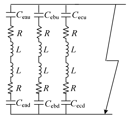 Equivalent circuit of capacitance discharge in the sub