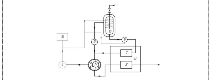 Diagram of the plant with a cryogenic cylinder and a