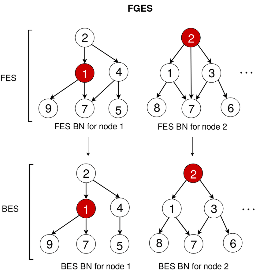 This diagram shows the basic flow of the FGES algorithm