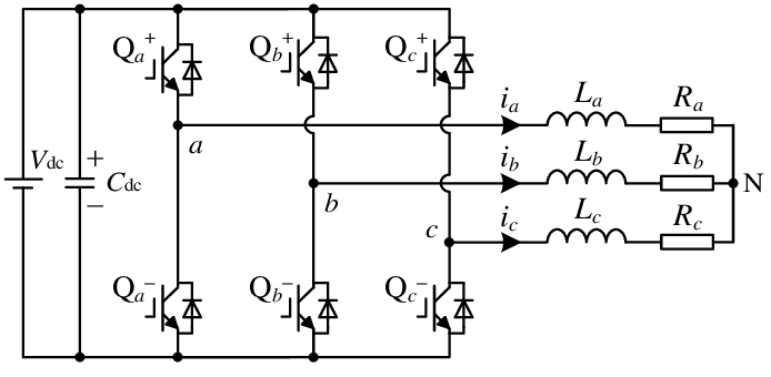 Power circuit of three-phase two-level converters