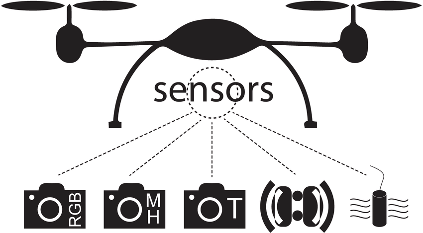 Schematic diagram showing an array of sensors that can be
