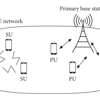 Cognitive radio network environment with primary and