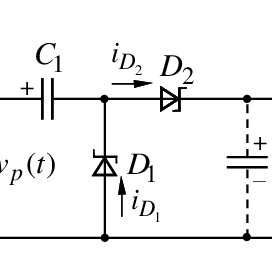 Circuit diagram of voltage doubler circuit for charging