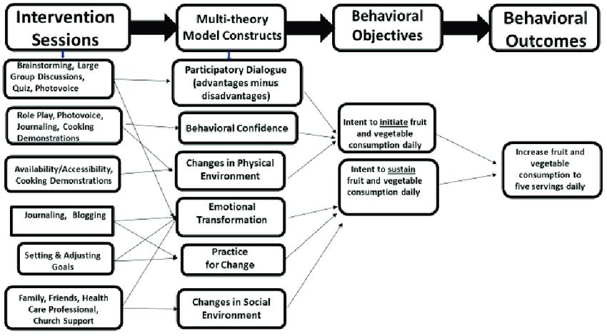 Logic Design depicting SAVOR intervention sessions, MTM
