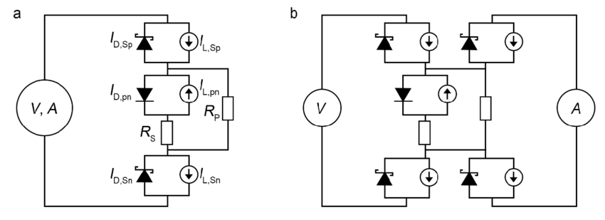 Figure S3: Equivalent circuit model of the MoS2