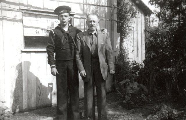 charles lassalle in navy uniform with his father