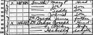 1920 Census, de Braga Families