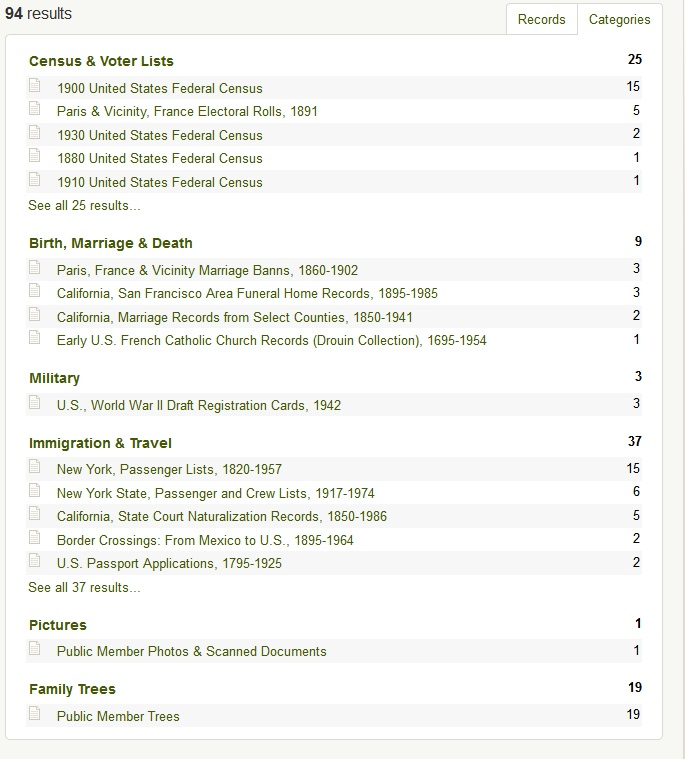 Making Use of the Keyword Search Box in Ancestry com Search to Find