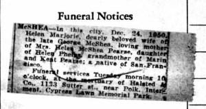 Obituary Helen Phelps McShea