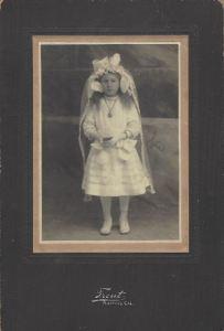 Communion Photo, Unknown Little Girl, Salinas ca 1910
